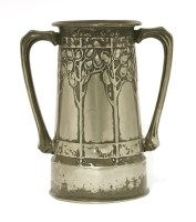 Lot 71 - A Liberty & Co. Tudric pewter twin-handled vase