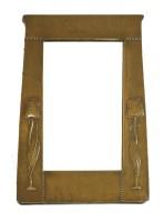 Lot 8 - An Art Nouveau copper framed mirror