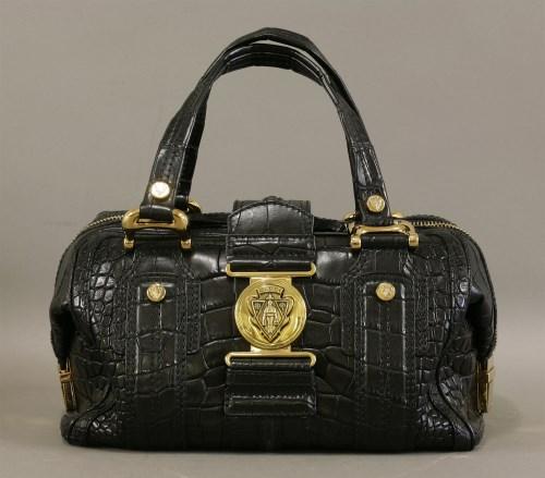 Lot 1000-A Gucci crocodile 'Aviatrix Boston' handbag