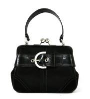 Lot 1027-A Coach black satin evening handbag