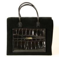 Lot 1029-An Escada black suede handbag