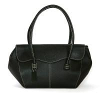 Lot 1030-A Todd's black leather handbag