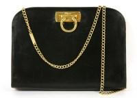 Lot 1032-A Salvatore Ferragamo black leather handbag