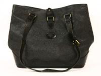 Lot 1033-A Mulberry black pebbled leather shopper tote handbag