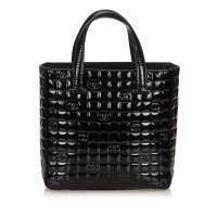 Lot 1040-A Chanel 'Choco Bar' patent leather handbag