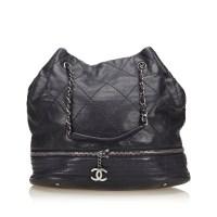 Lot 1046-A Chanel 'Expandable Ligne' drawstring handbag