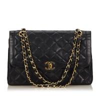 Lot 1055 - A Chanel matelassé leather flap handbag