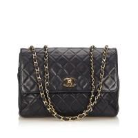 Lot 1057 - A Chanel matelassé leather flap bag