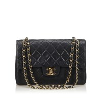 Lot 1059 - A Chanel classic small leather double flap shoulder bag