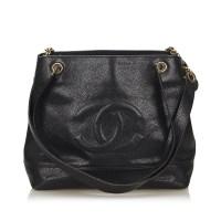 Lot 1060 - A Chanel 'CC' caviar leather shoulder bag