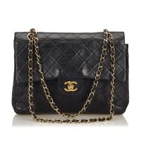 Lot 1061 - A Chanel classic medium double flap shoulder bag