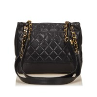 Lot 1071 - A Chanel quilted caviar leather tote shoulder bag