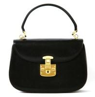 Lot 1078 - A vintage Gucci black leather handbag
