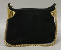 Lot 1081 - A Gucci black suede and leather 'Masterpiece' shoulder bag