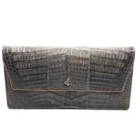 Lot 1097 - A vintage alligator clutch handbag