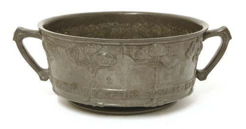 Lot 72-A Liberty & Co. pewter fruit bowl