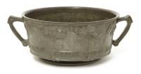 Lot 72 - A Liberty & Co. pewter fruit bowl