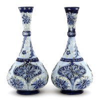 Lot 89-A near pair of Macintyre & Co. Florianware vases
