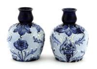 Lot 91-A pair of Macintyre Florian ware vases