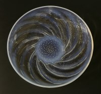 Lot 266-A Lalique 'Poissions' opalescent glass dish