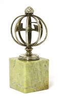 Lot 263-A silver desk weather vane or armillary sphere