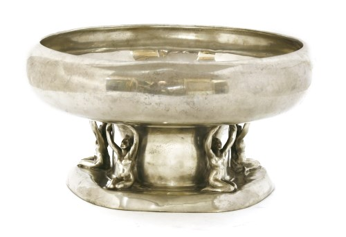 Lot 73-An Arts and Crafts pewter comport