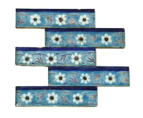 Lot 33-Five William De Morgan glazed pottery tile friezes