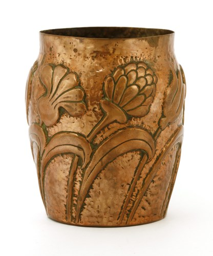 Lot 61-A copper vase