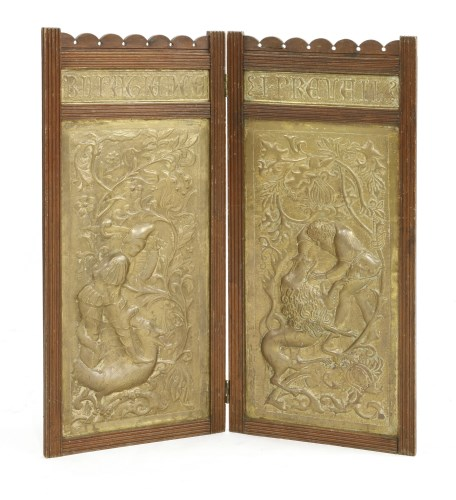 Lot 75-A Keswick School two-fold screen