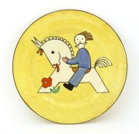 Lot 253-A Clarice Cliff child's plate