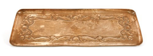 Lot 68-A Newlyn Arts and Crafts copper tray