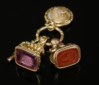 Lot 12-A William IV gold intaglio seal