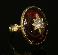 Lot 20-A diamond and garnet ring