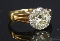 Lot 45-A single stone diamond ring
