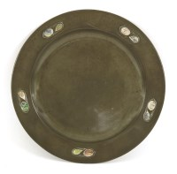 Lot 78-A Tudric pewter plate