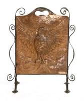 Lot 81-An Arts and Crafts copper fire screen