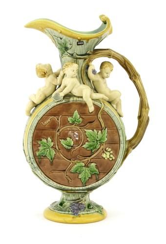 Lot 29-A Minton majolica pottery ewer