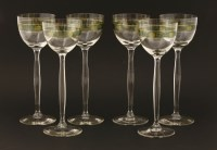 Lot 1 - A set of six Secessionist-style wine glasses