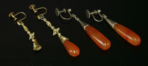 Lot 7-A pair of Edwardian gold