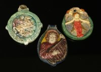 Lot 36-Three Compton Pottery pendants