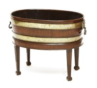 Lot 39 - A George III oval brass bound wine cooler