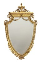 Lot 41 - A Victorian giltwood and gesso heart-shaped wall mirror