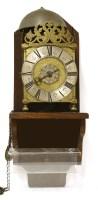 Lot 21-A brass lantern clock