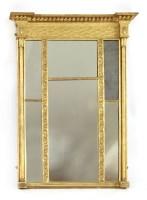 Lot 22-A Regency gilt gesso overmantel mirror