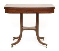 Lot 25 - A Regency mahogany fold-over card table