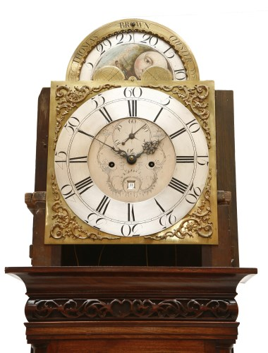 Lot 24-A mahogany eight-day longcase clock