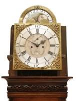Lot 24-A mahogany eight-day longcase clock