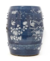 Lot 17-A Chinese blue and white garden seat