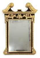 Lot 66 - A George III mahogany and parcel gilt wall mirror