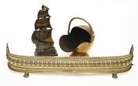 Lot 77 - Brass fireplace furniture